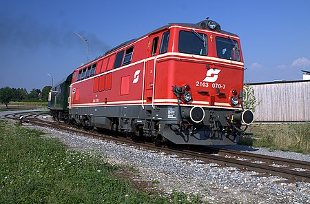 Vehicle - Rail - Locomotive - Diesel - ÖBB 2143