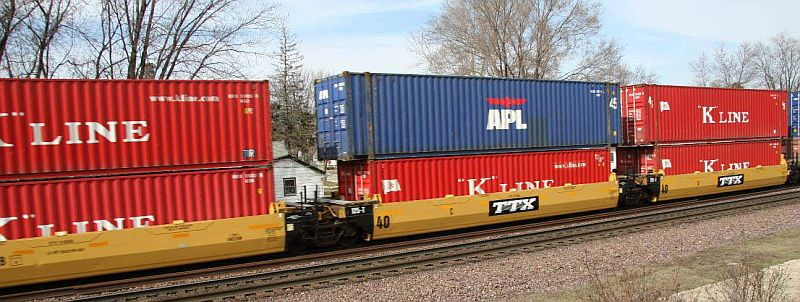 Vehicle - Rail - Rolling Stock (Freight) - Container Car - Articulated Well, Gunderson Maxi-Stack I