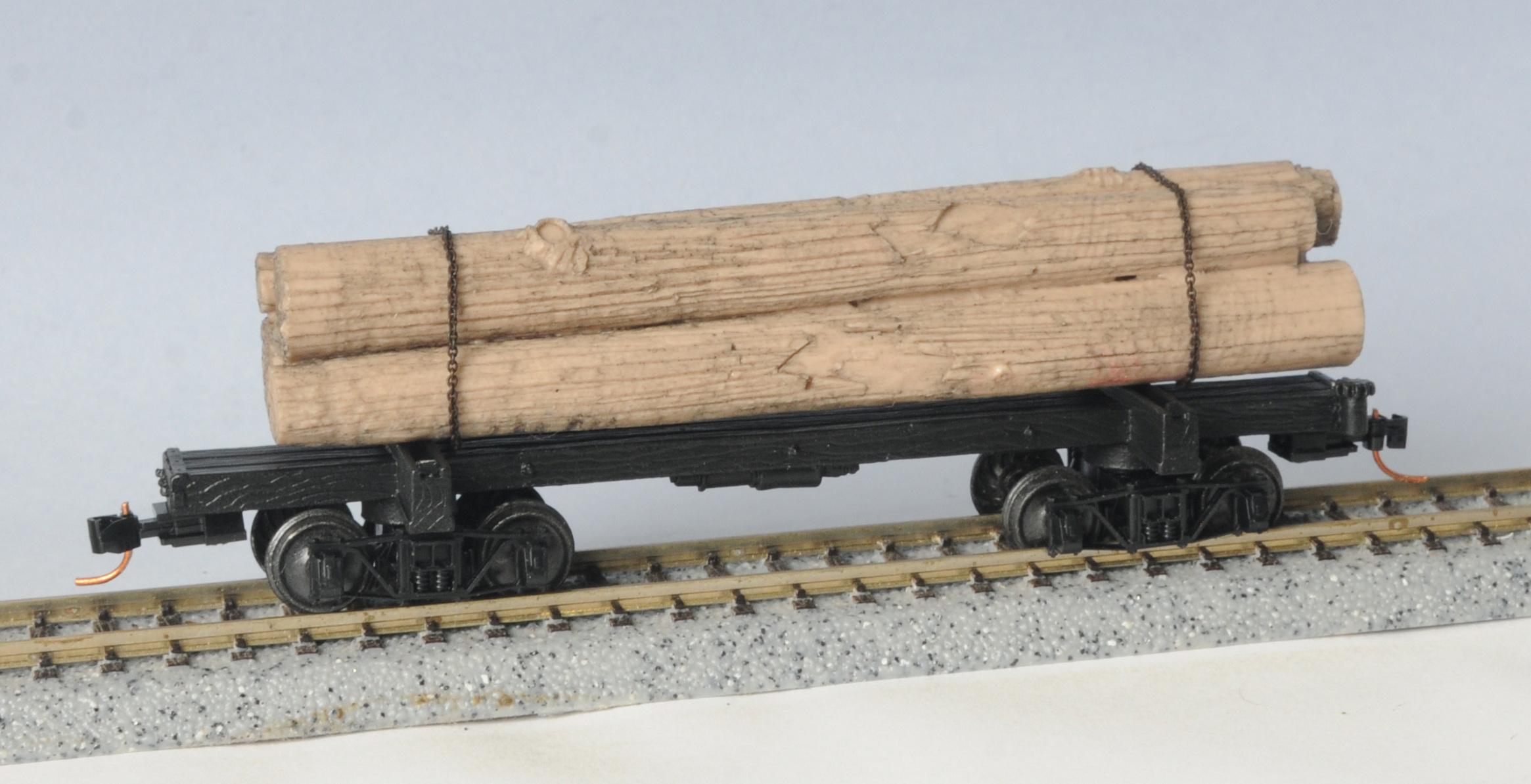 HO Scale - Micro-Trains - 865 00 060 - Log Car, Skeleton - Generic