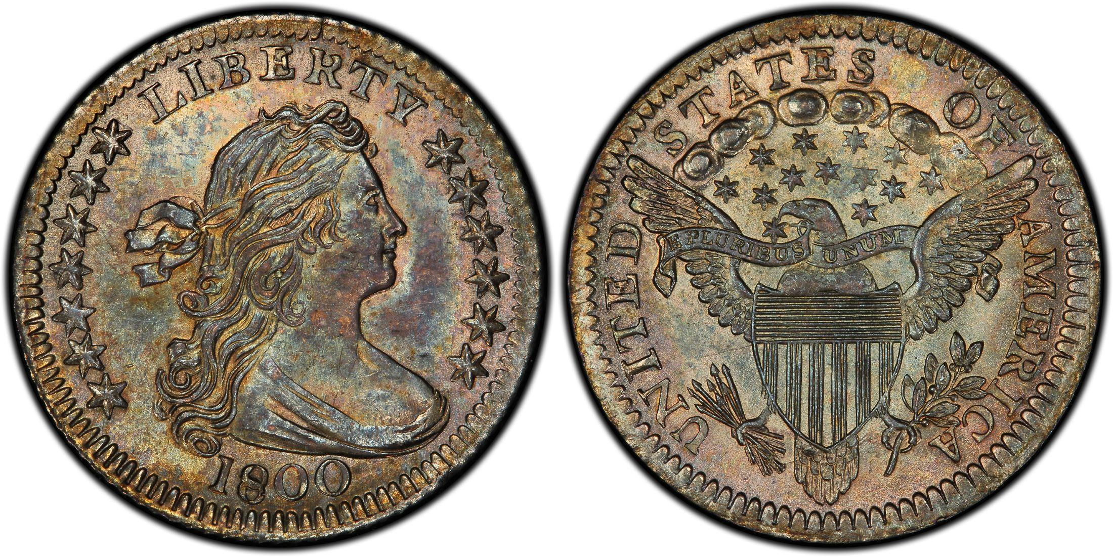 US Coin - 1800 - Draped Bust Half Dime - Philadelphia