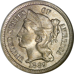 US Coin - 1889 - Three Cent Nickel - Philadelphia