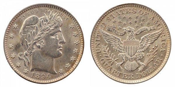 1894 - Barber Quarter - Philadelphia