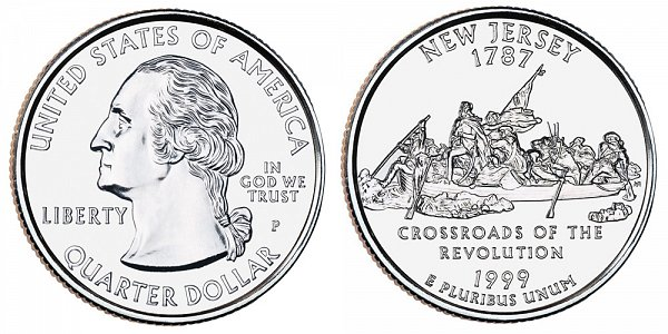 US Coin - 1999 - Washington Quarter - Philadelphia