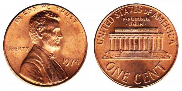 1974 - Lincoln Cent - Philadelphia