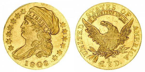 US Coin - 1808 - Capped Bust Quarter Eagle - Philadelphia