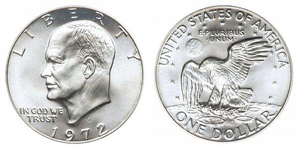 1972 - Eisenhower Dollar - Philadelphia