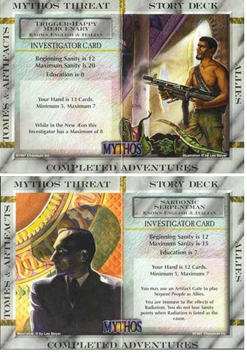 Mythos CCG - Trigger-Happy Mercenary/Sardonic Serpentman