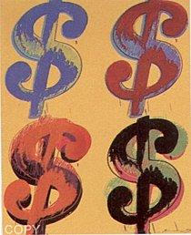 Warhol - 1982 - $ (4),  II.281
