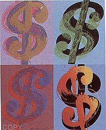 Warhol - 1982 - $ (Quadrant), II.283