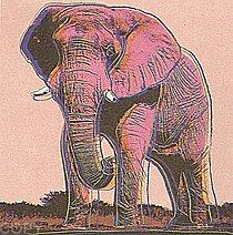 Warhol - 1983 - African Elephant, II.293