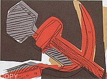 Warhol - 1977 - Hammer and Sickle, II.164