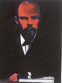 Warhol - 1987 - Lenin (Black), II.402