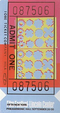 Warhol - 1967 - Lincoln Center Ticket, II.19