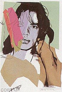 Warhol - 1975 - Mick Jagger, II.140