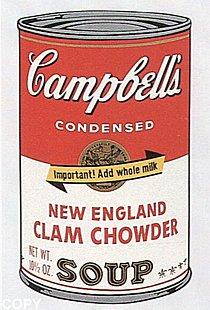 Warhol - 1969 - New England Clam Chowder, II.57