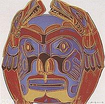 Warhol - 1986 - Northwest Coast Mask, II.380