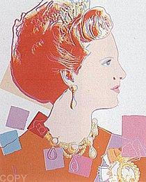 Warhol - 1985 - Queen Margrethe II of Denmark, II.344