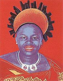 Warhol - 1985 - Queen Ntombi Twala of Swaziland, II.346