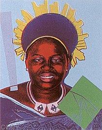 Warhol - 1985 - Queen Ntombi Twala of Swaziland, II.348