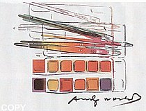 Warhol - 1982 - Watercolor Paintkit with Brushes, II.288