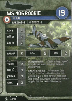Axis & Allies Air Force - Ms.406 Rookie