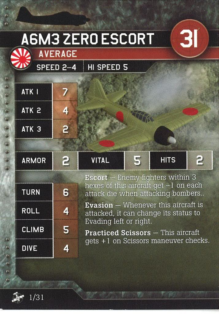 Axis & Allies Air Force - A6M3 Zero Escort