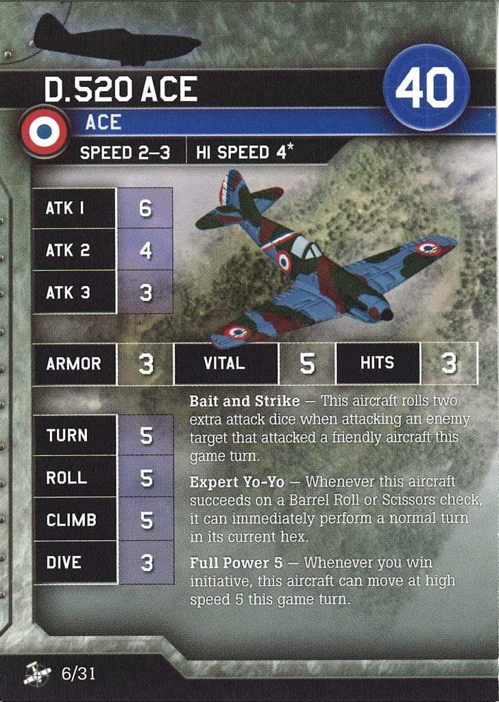 Axis & Allies Air Force - D.520 Ace