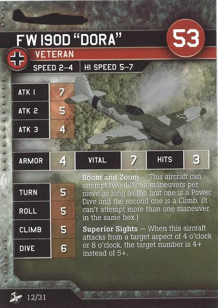 Axis & Allies Air Force - Fw190D Dora