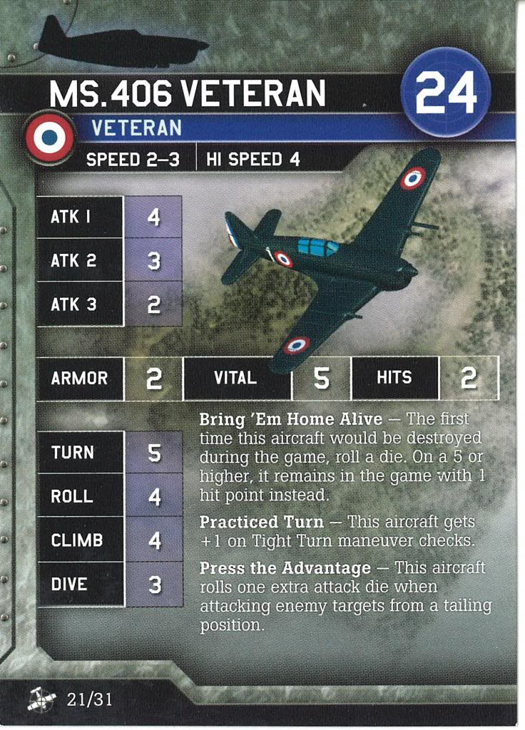 Axis & Allies Air Force - Ms.406 Veteran
