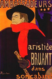 Toulouse-Lautrec - Bruant Aux Ambassadeurs