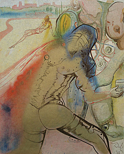 Dali Print - The Death of Clorinda