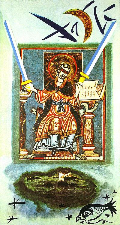Dali Print - Two of Swords
