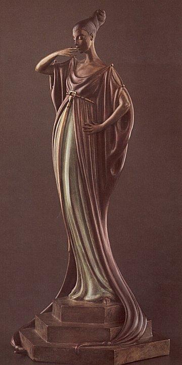 Erte Sculpture - An Evening in 1922