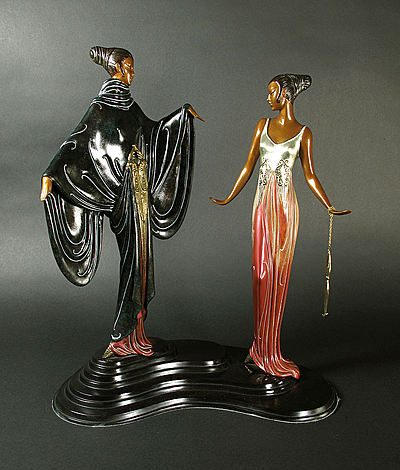 Erte Sculpture - Dreambirds
