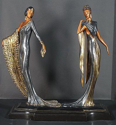 Erte Sculpture - Duetto