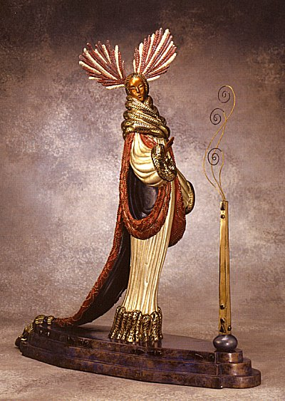 Erte Sculpture - Ermine Brocade