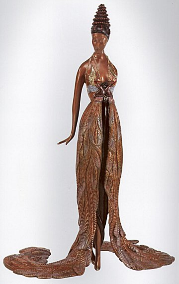 Erte Sculpture - Feather Gown