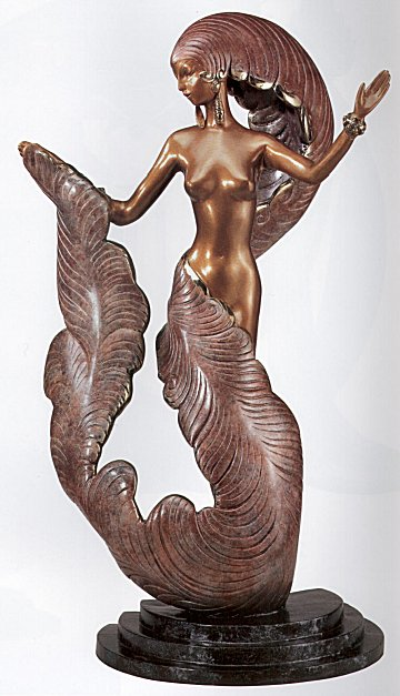 Erte Sculpture - Folies Bergere