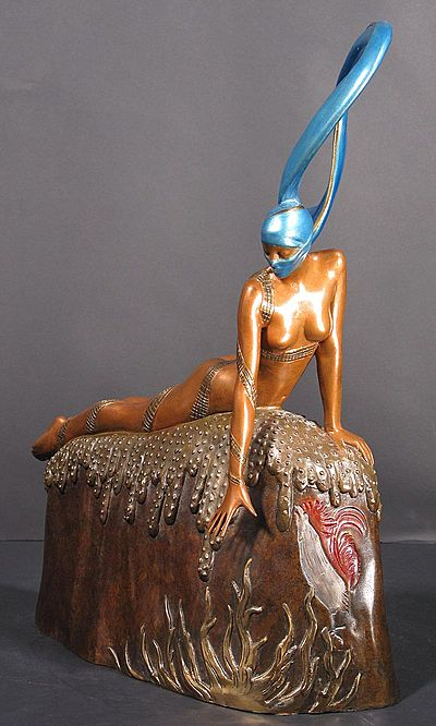 Erte Sculpture - French Rooster