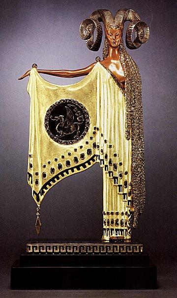 Erte Sculpture - Golden Fleece