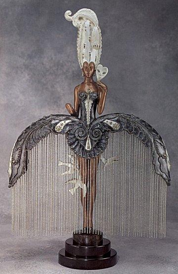 Erte Sculpture - Her Secret Admirers