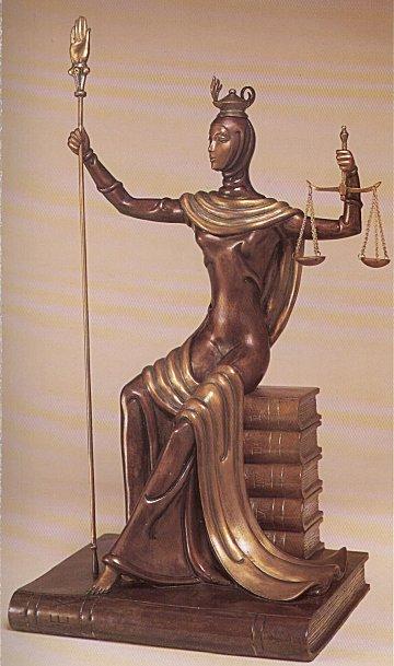 Erte Sculpture - Justice