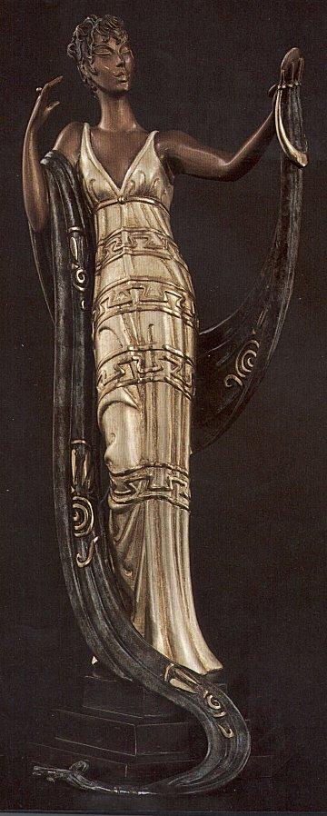 Erte Sculpture - La Coquette