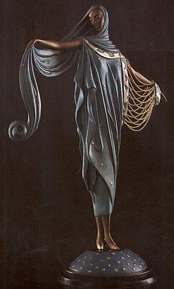Erte Sculpture - Moonlight
