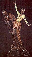 Erte Sculpture - Woman and Satyr