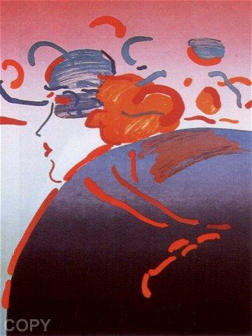 Peter Max Print - Fantasy Lady