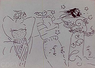 Peter Max Print - Three Angels
