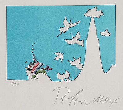 Peter Max Print - Winter Dream