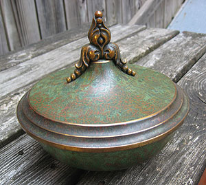 Carl Sorensen - Covered Bowl with Scrollwork Finial