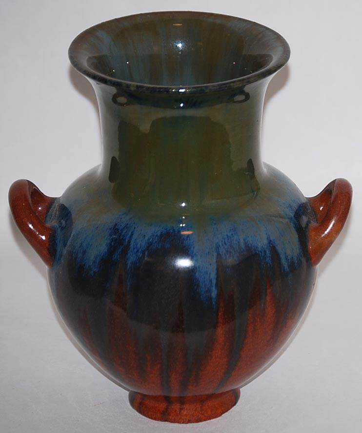 Fulper Pottery - Oil Vase - Green, Dark